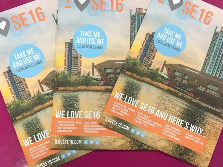 Pick up your pack of ILOVESE16 at a local business or community group #se16